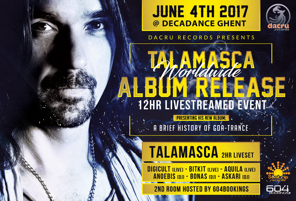 Talamasca worldwide album release & livestream 4 Jun '17, 23:00
