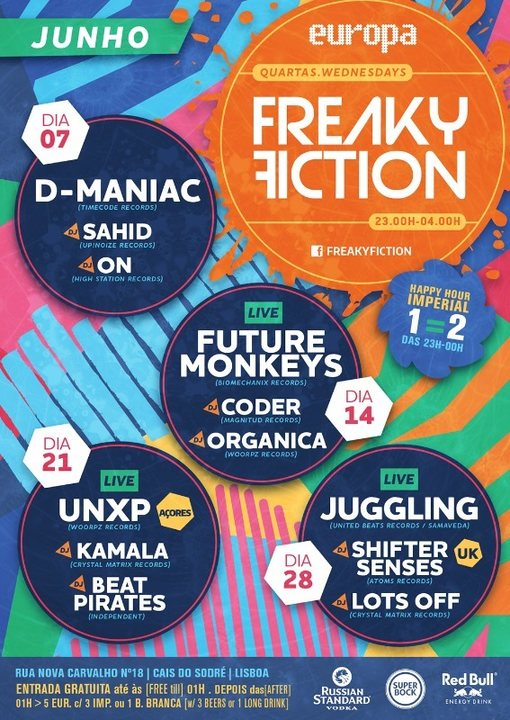 Party flyer: FREAKY FICTION 7 Jun '17, 23:00