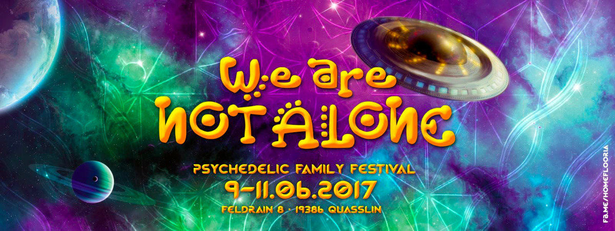 Party flyer: We Are Not Alone 9 Jun '17, 15:00