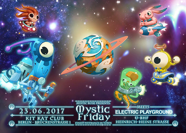 Party flyer: Mystic Friday meets Electric Playground 23 Jun '17, 23:00