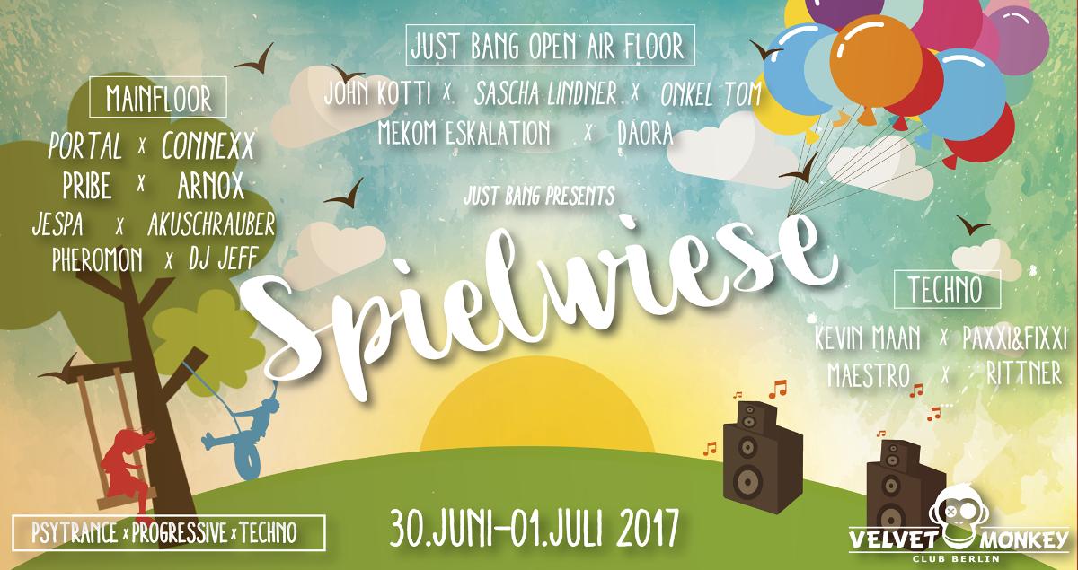 Party flyer: Spielwiese (Open Air&Indoor) w/ Connexx,Pribe,Arnox,Portal uvm 30 Jun '17, 23:00
