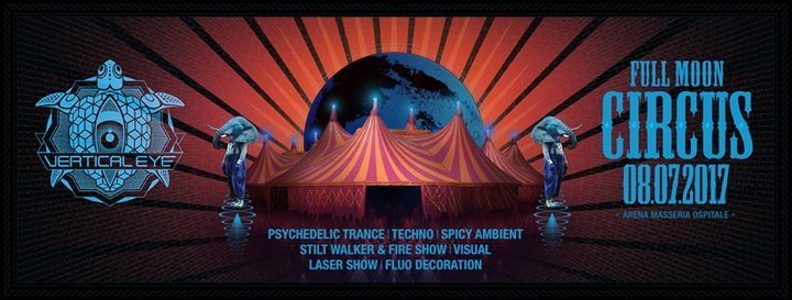 Party flyer: Full Moon Circus 8 Jul '17, 21:00
