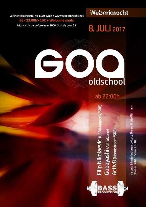Party flyer: Oldschool Goa Party 8 Jul '17, 22:00