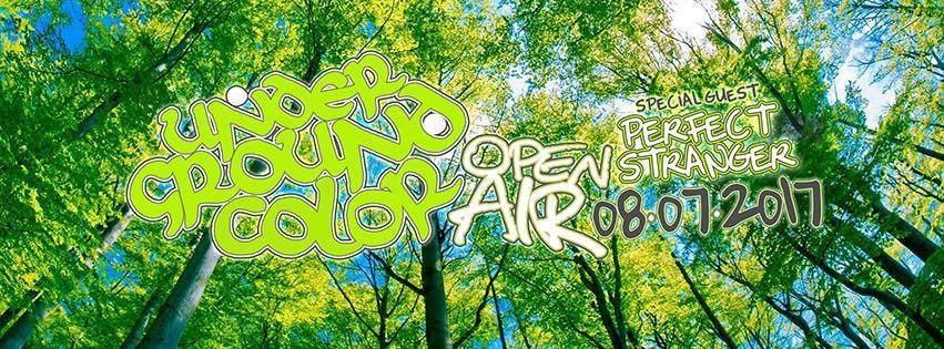 Party flyer: Underground Color Open Air w// Perfect Stranger [Iboga Rec.] 8 Jul '17, 20:00