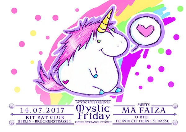 Party flyer: Mystic Friday meets Ma Faiza 14 Jul '17, 23:00