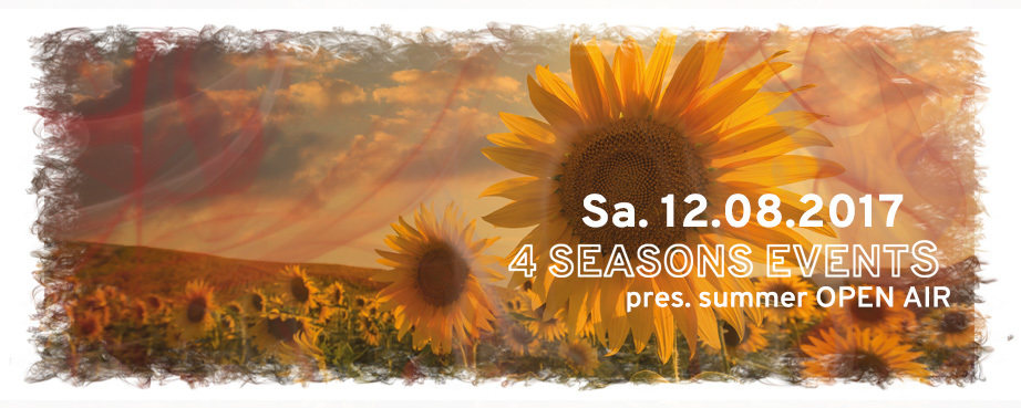 Party flyer: 4SEASONS EVENTS pres. SUMMER OA with JAZZMINE and LUDLEY 12 Aug '17, 16:00