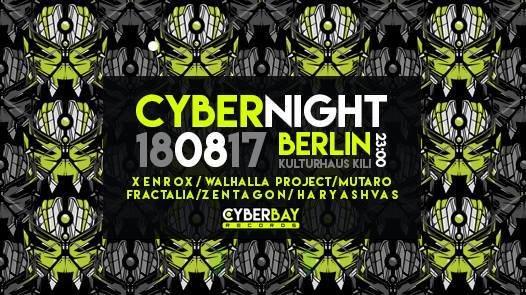Party flyer: Cyber Night -Berlin 18 Aug '17, 23:00