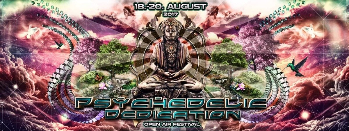 Party flyer: Psychedelic Dedication Open Air Festival 2017 18 Aug '17, 18:00