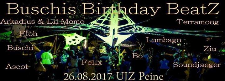 Party flyer: Buschi´s Birthday BeatZ - Die Zweite 26 Aug '17, 12:00