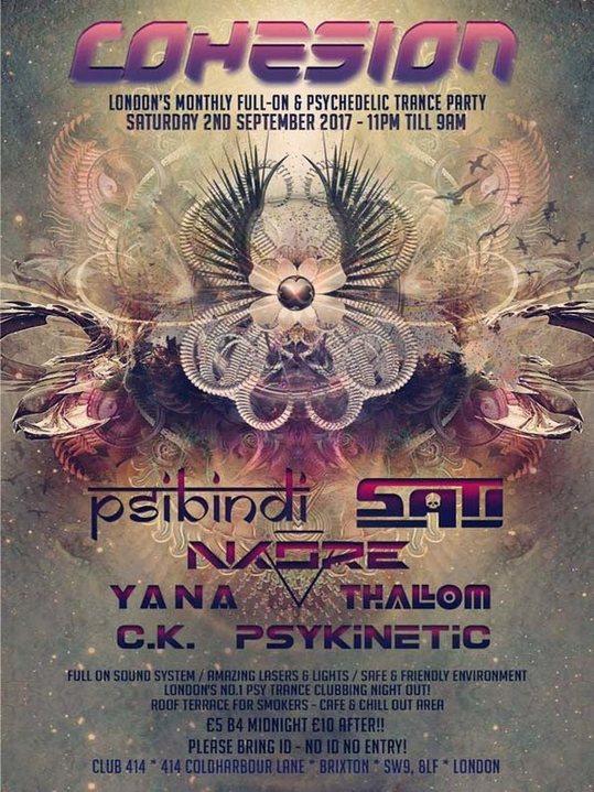 Cohesion Psytrance Adventure 2 Sep '17, 23:00