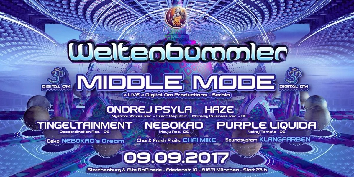 Weltenbummler with Middle Mode (live) // Serbia 9 Sep '17, 23:00