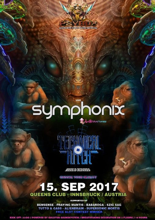 PSYBOX - Season Opening with SYMPHONIX & TECHNICAL HITCH *live 14 Sep '17, 22:00