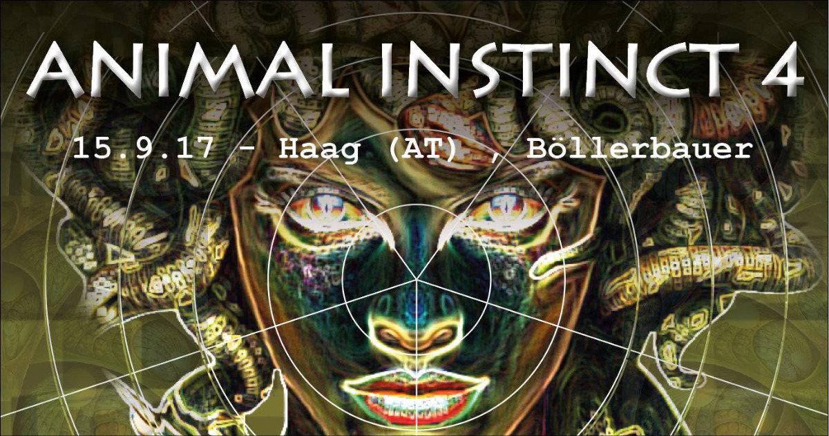Party flyer: Animal instinct 4 15 Sep '17, 21:00