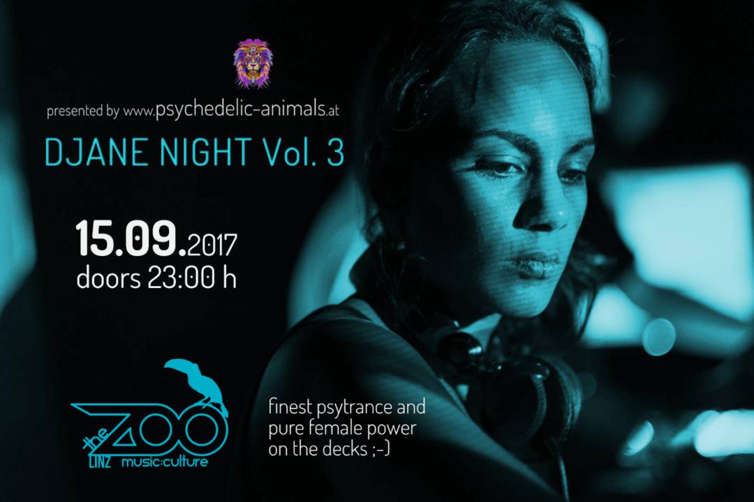 Psychedelic Animals present: Djane Night Vol. 3 15 Sep '17, 23:00
