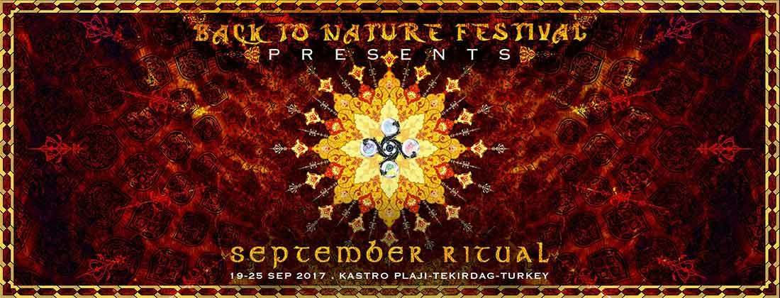 Party flyer: Back to Nature Festival presents September Ritual 19 Sep '17, 15:00