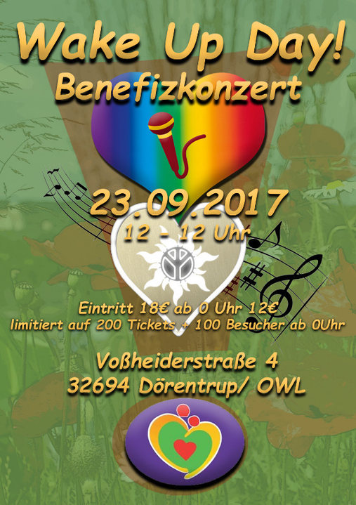 Party flyer: Wake-Up Day Benefizkonzert - Afterparty 23 Sep '17, 23:30
