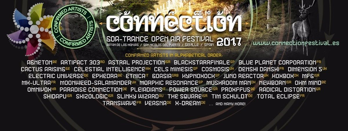 CONNECTION 2017 ●●•٠•Open Air GoaTrance Festival٠• Old School Vibes٠• 26 Sep '17, 22:00