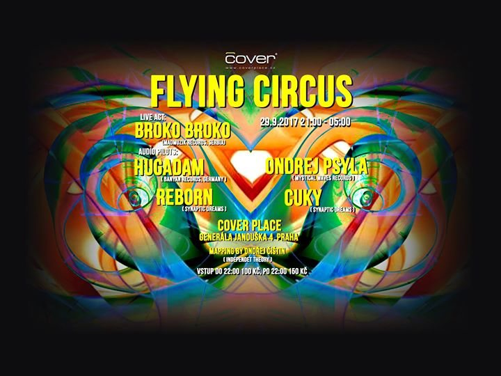 Party flyer: Flying Circus with Hugadam (Banyan Records) 29 Sep '17, 21:00