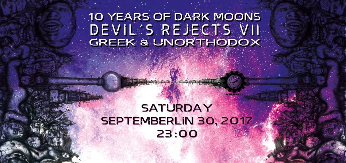 Party flyer: 10 YEARS of DARK MOONS - DEVIL´S REJECTS VII 30 Sep '17, 22:00