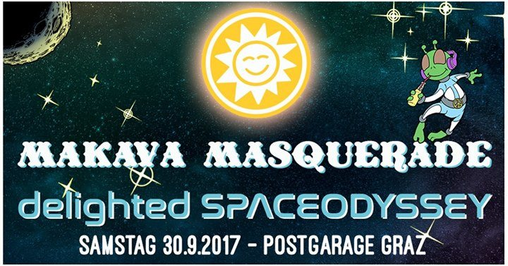 Party flyer: MAKAvA Masquerade – Delighted Spaceodyssey 30 Sep '17, 23:00
