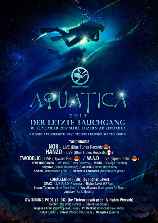 Party flyer: Tiefenrausch: Aquatica 2017 - der letzte Tauchgang 30 Sep '17, 21:00