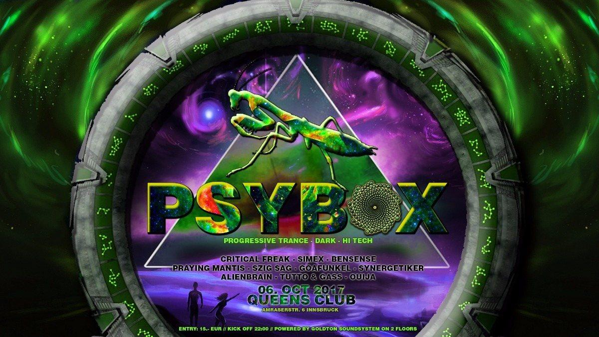 Party flyer: PSYBOX 6 Oct '17, 22:00