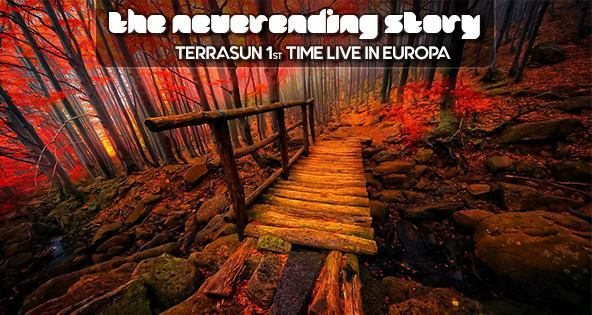 Party flyer: The Neverending Story: Terrasun live 1st time in Europa 6 Oct '17, 23:00