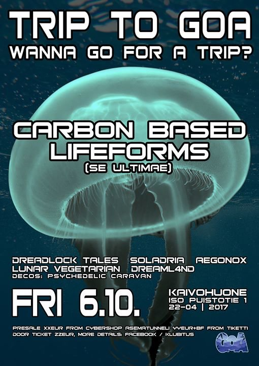 Trip To Goa presents: Carbon Based Lifeforms Live 6 Oct '17, 22:00