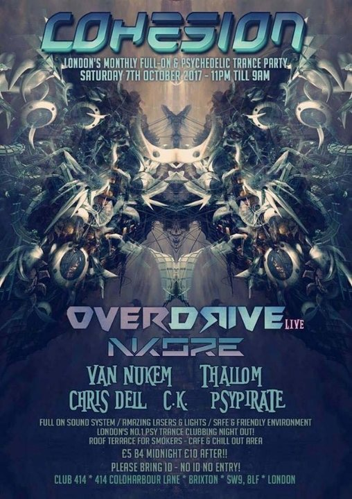 Party flyer: Cohesion Psytrance Adventure 7 Oct '17, 23:00
