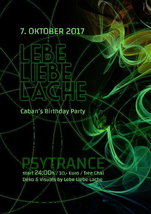 Party flyer: Dj Caban´s Birthday Bash 7 Oct '17, 22:00