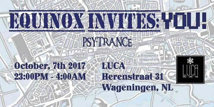 Party flyer: Equinox Invites: YOU! 7 Oct '17, 23:00