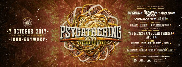 Party flyer: Psygathering autumn edition 3 rooms ! 7 Oct '17, 23:00