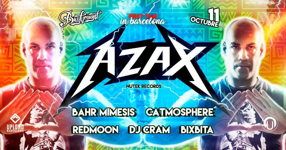 Party flyer: AZAX Syndrom en Barcelona! (Upload) 11 Oct '17, 23:30