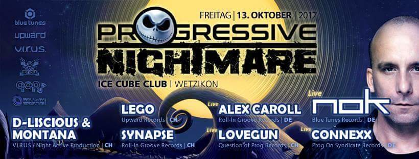 Party flyer: Progressive Nightmare II 13 Oct '17, 22:00