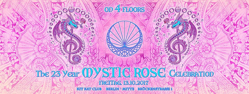 Party flyer: The 23 Year Mystic Rose Celebration 13 Oct '17, 22:00