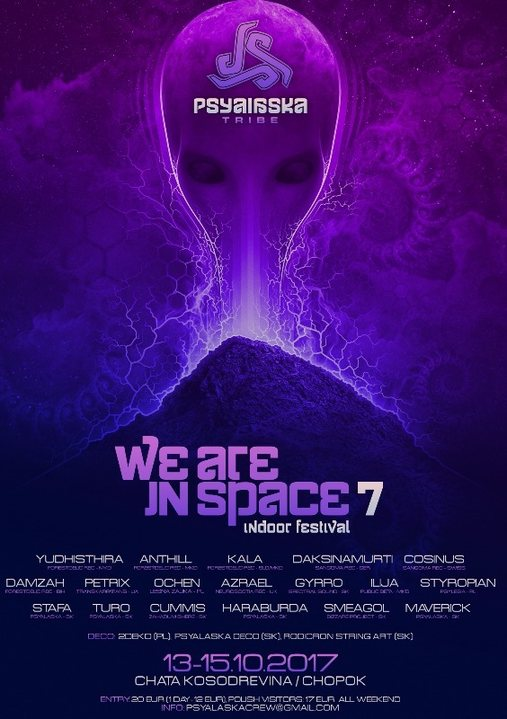 WE ARE IN SPACE-7 indoor festival 13 Oct '17, 20:00