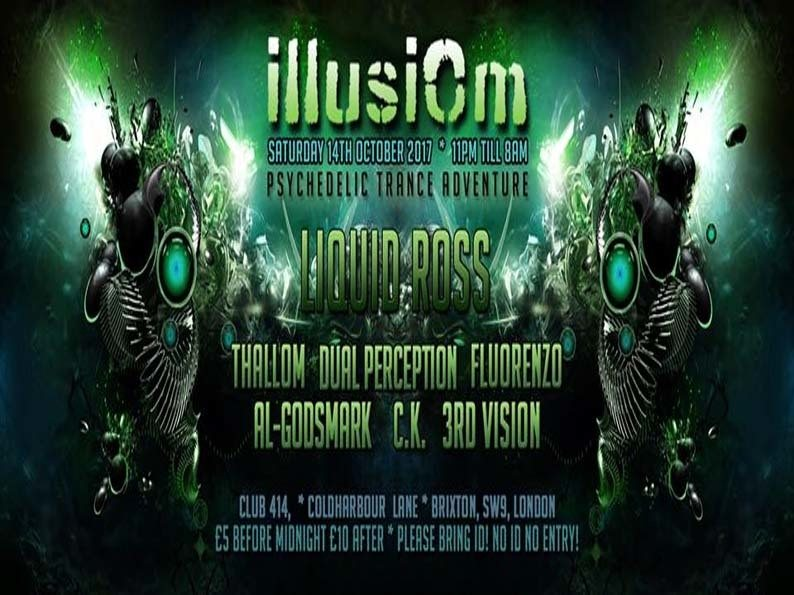 Party flyer: Illusiom @Club 414/Sat 14th Of Oct,With Liquid Ross & Many More! 14 Oct '17, 23:00