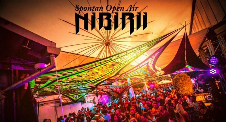 Party flyer: Nibirii Spontan Open Air at Bootshaus 15 Oct '17, 14:00