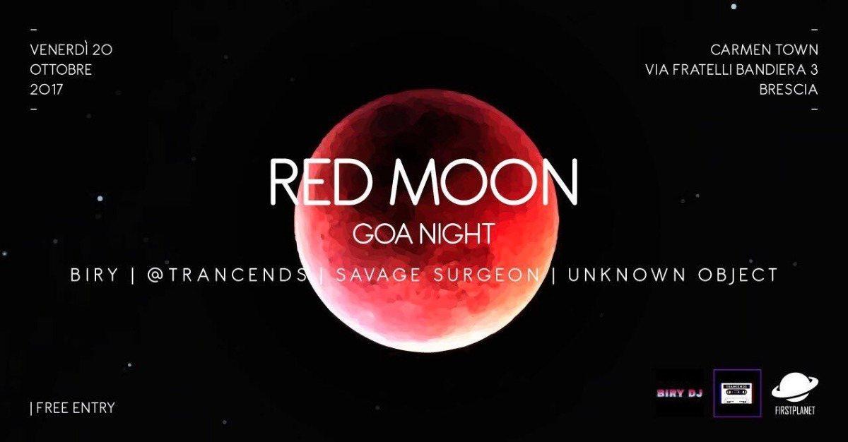 Red Moon Goa/Psy night @Carmen Town 20 Oct '17, 23:00