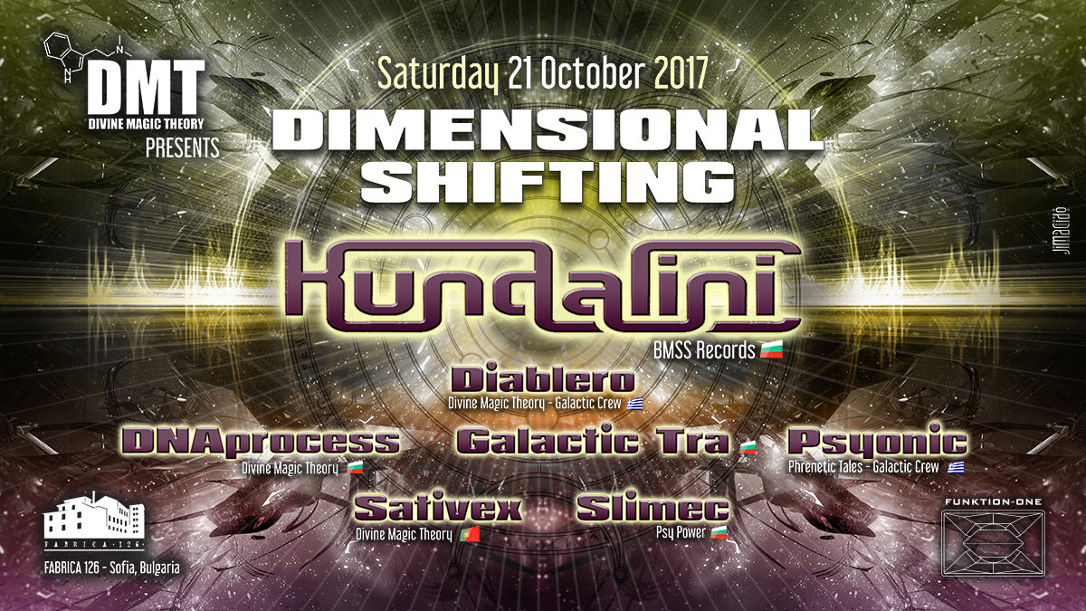 Party flyer: Divine Magic Theory: Dimensional Shifting 21 Oct '17, 22:00