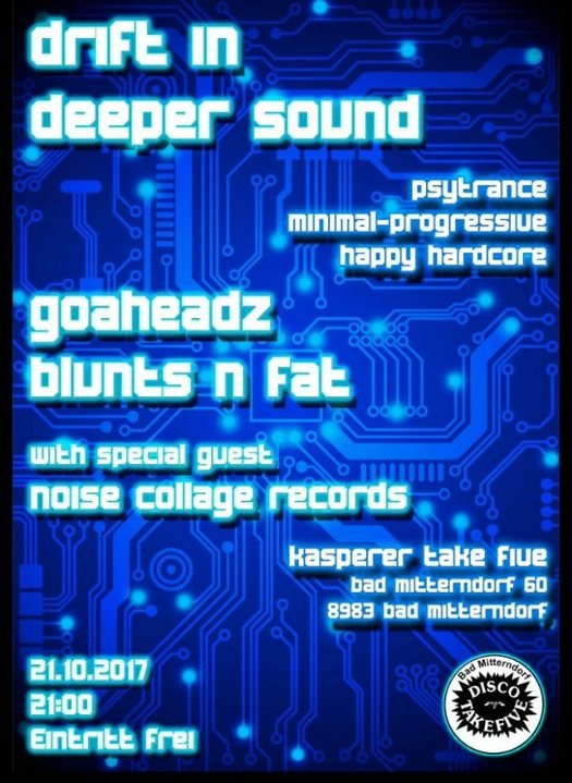Drift in Deeper Sound 21 Oct '17, 21:00