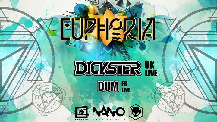 Party flyer: Euphoria #1 w/ Dickster aka Dick Trevor (Nano Records) 27 Oct '17, 23:45