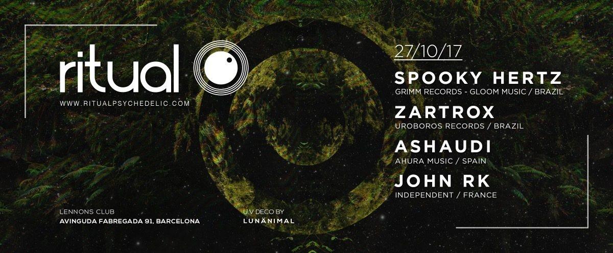 Ritual (Spoky Hertz & Zartrox live!) at Lennons Club, Barcelona 27 Oct '17, 01:00