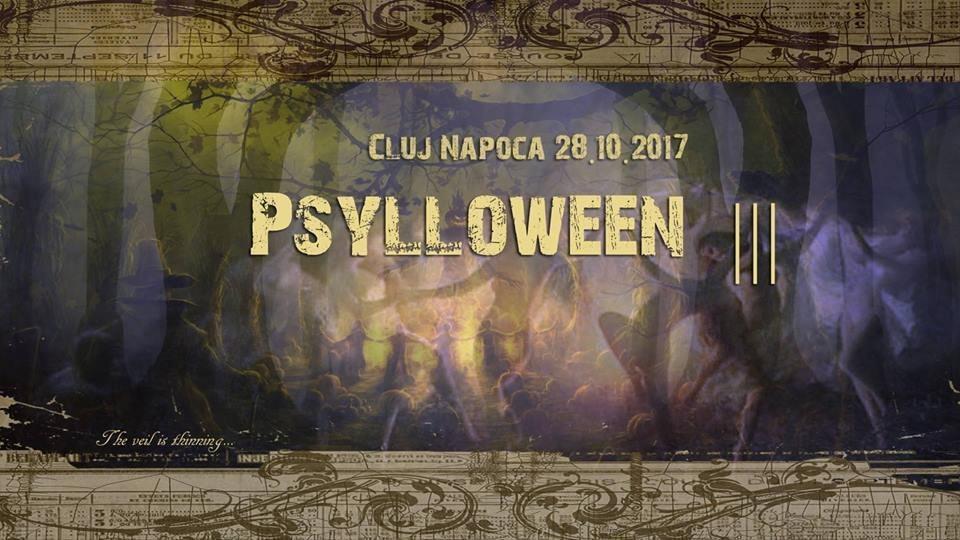 Party flyer: Psylloween³ 28 Oct '17, 22:00