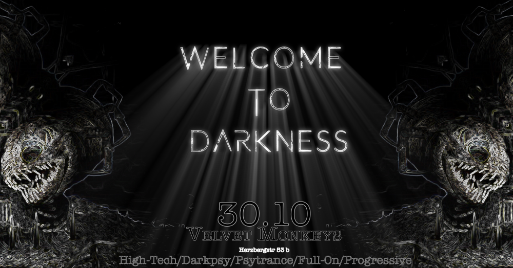 Party flyer: Welcome to Darkness / Halloween with Bombax, Metahuman, Nyama 30 Oct '17, 22:00