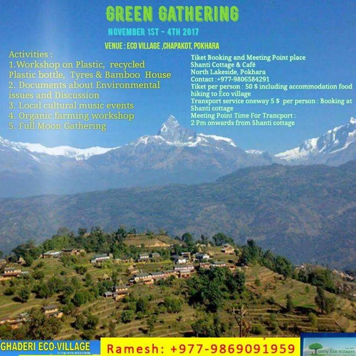 Party flyer: Green Gathering Movement 1 Nov '17, 20:00