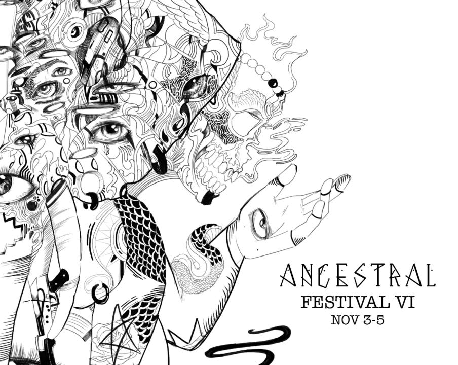 Party flyer: Ancestral Festival VI 3 Nov '17, 22:00