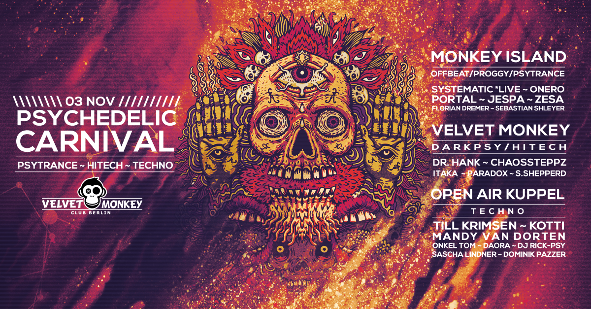 Psychedelic Carnival w/ Systematic , Onero , Portal 3 Nov '17, 23:00
