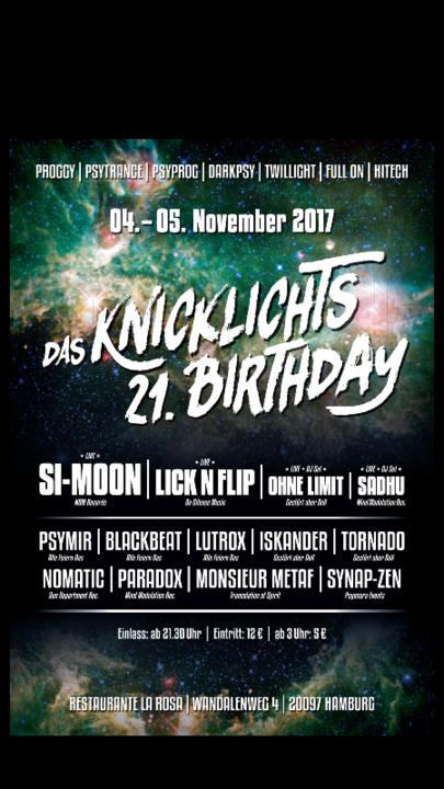 DAS Knicklichts 21th B-day (SI-MOON LIVE) 4 Nov '17, 22:00