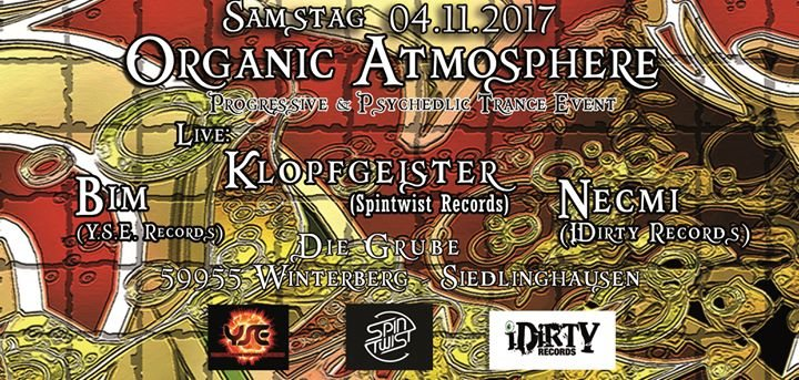 ॐ Organic Atmosphere ॐ Live Klopfgeister 4 Nov '17, 22:00